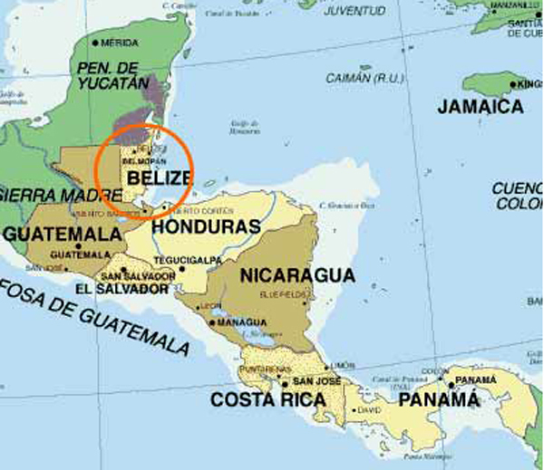 Belize location on the world map belize location on world map gumiabroncs Gallery